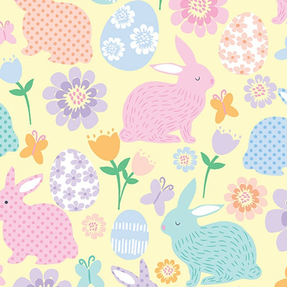 Love Bunny by Kanvas Pink & Yellow Pastel Tulips