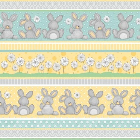 Henry Glass & Co Fluffy Bunny Flannel Novelty Striped