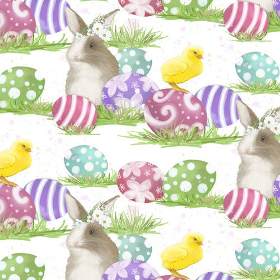 Bunnies & Chicks Fabric  by Blank Quilting