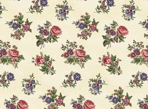 Lucy's Collection fabric Large Floral