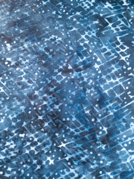 Batik by Mirah Fabric Blue Chase BS-16-1664 BS-16-1662