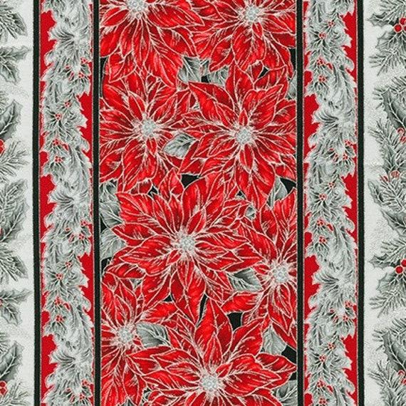Robert Kaufman Holiday Flourish 14 Scarlet & Silver