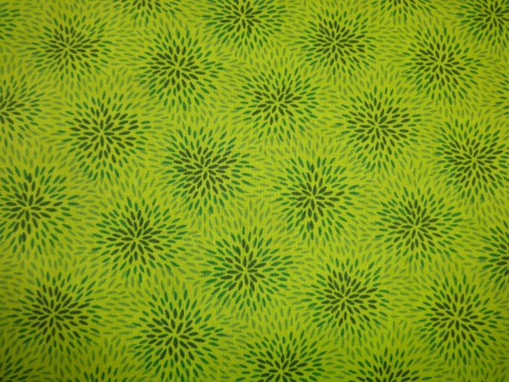 Lime Green w/Dark Green 'Fireworks' Fabric 380