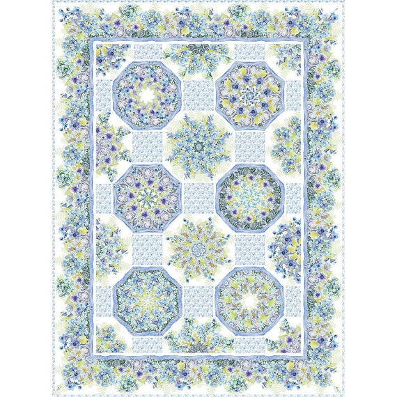 Leah Collection One-Fabric Kaleidoscope Quilt Kit