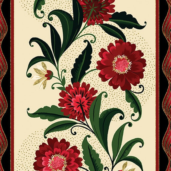 Kanvas Holiday Fabric Joyful  Stripes 8279