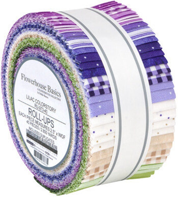 Robert Kaufman Flowerhouse Basics Roll-Ups Lilac Colorstory