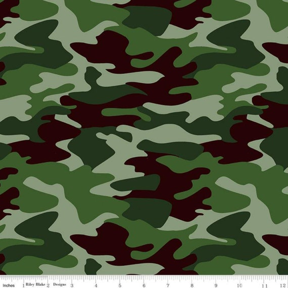Army Fatigue Fabric by Riley Blake