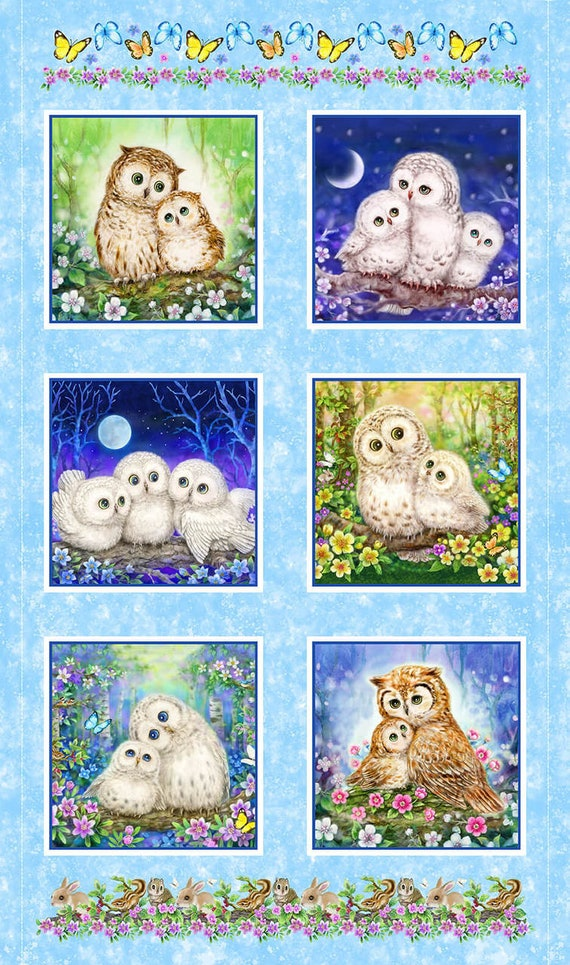 Studio E Fabrics Epic Owls Digital Fabric Collection
