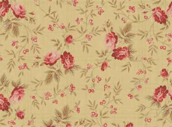 Red Rooster Bed of Roses Fabric 4642-26256
