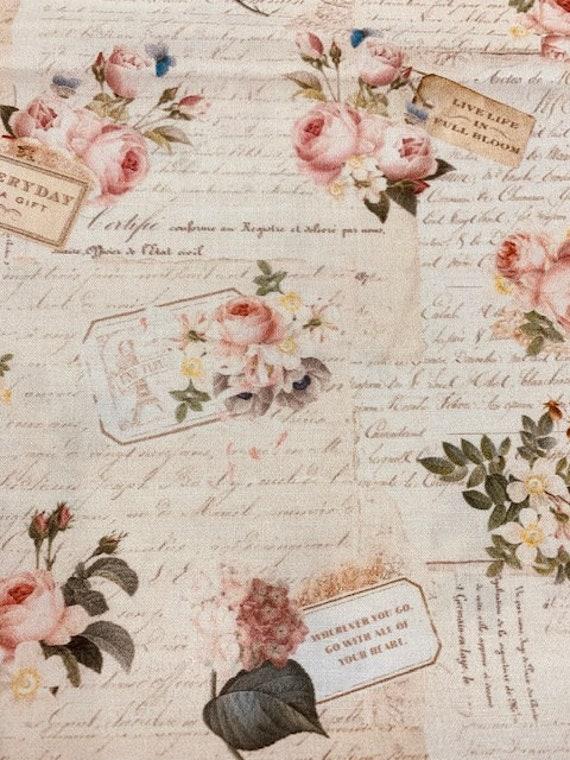 Rose & Violets Garden Fabric By Riley Blake