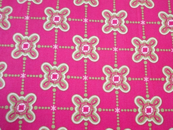 Quilting Treasures Love and Hope Magenta w/Pink Ribbons Fabric 242