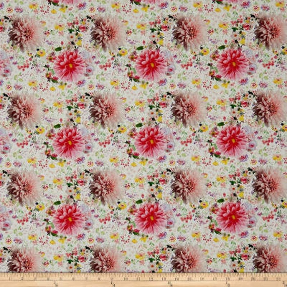 Stof Fabrics Pink Floral Fabric Collection