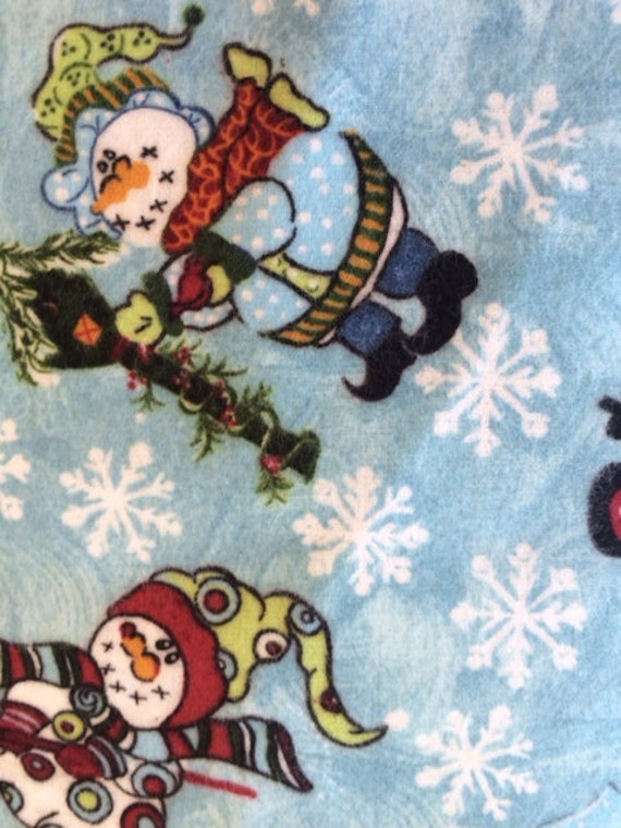 Snow Blizzard Bunch Babies Fabric By Pearl Krush Flannel