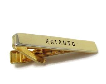 Knights Tie Clip Bar Gold Tone Vintage Men's Jewelry Nice Design