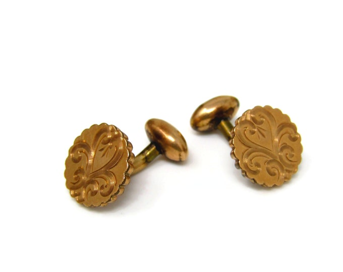 Antique Flower Cufflinks Shirt Studs Gorgeous High Quality by S&C (These are really Nice)