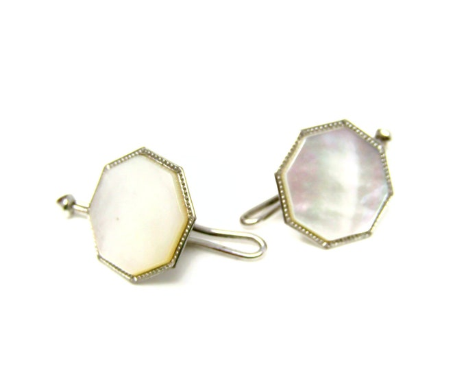 Two Antique Shirt Studs Beautiful & High Quality Mother of Pearl