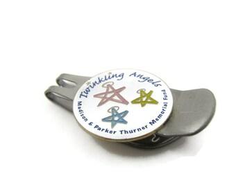 Twinkling Angels Money Clip Madison & Parker Thurner Memorial Fund Golf Marker Design