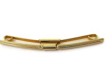 748162c8d734 Tie Collar Bar Vintage Gold Tone Clip Excellent Design Nice Quality