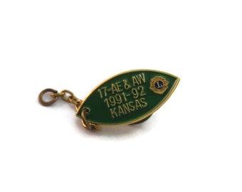 Vintage Men's Tie Tack Pin Jewelry:  Lions International 17 AE & AW 1991-92 Kansas