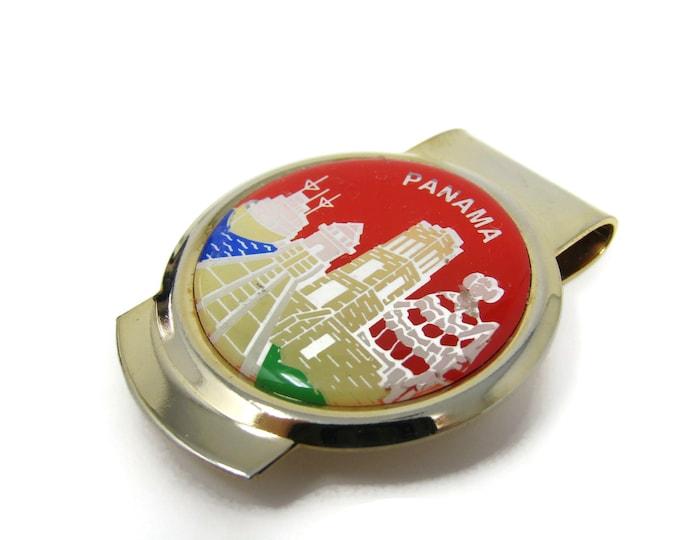 Panama Money Clip Vintage Excellent Design Beautiful Color