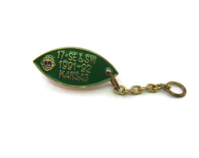 Vintage Men's Tie Tack Pin Jewelry:  Lions International 17 SE & SL 1991-92 Kansas