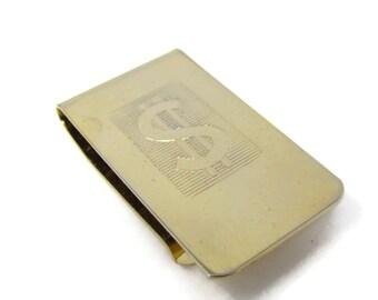 Vintage Money Clip Dollar Sign Excellent Design Gold Tone