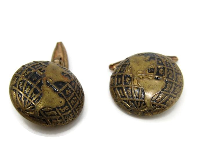 World Globe North American South America Cufflinks for Men's Vintage Men's Jewelry Nice Design