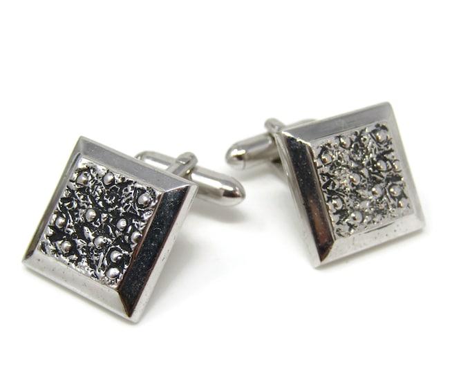 Textured Squares Cufflinks for Men's Vintage Men's Jewelry Nice Design