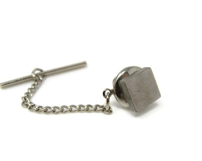 Classic Square Tie Tack Pin Vintage Men's Jewelry Nice Design