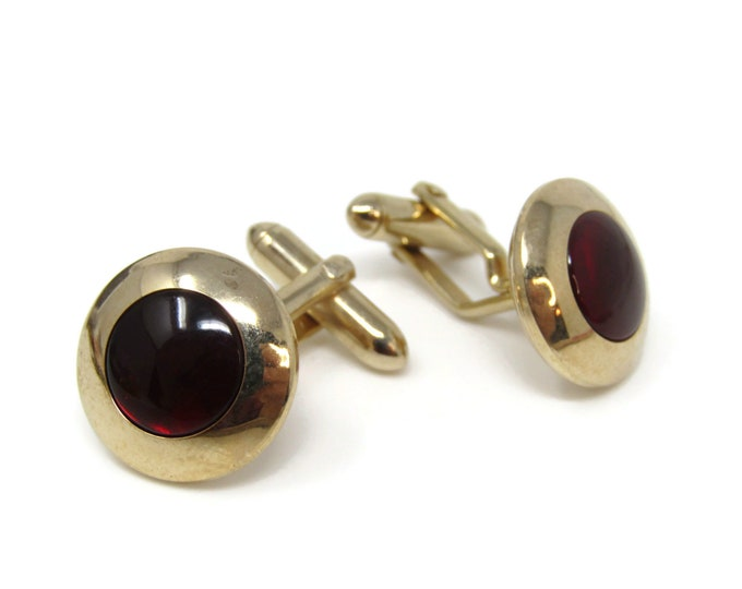 Dark Red Gorgeous Cufflinks for Men's Vintage Men's Jewelry Nice Design
