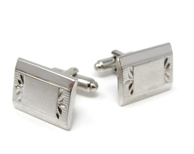 Rectangle Flower Edges Cufflinks for Men's Vintage Men's Jewelry Nice Design