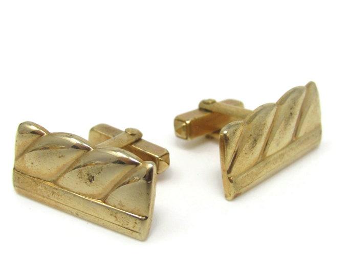Modernist Large Twist Cufflinks for Men's Vintage Men's Jewelry Nice Design