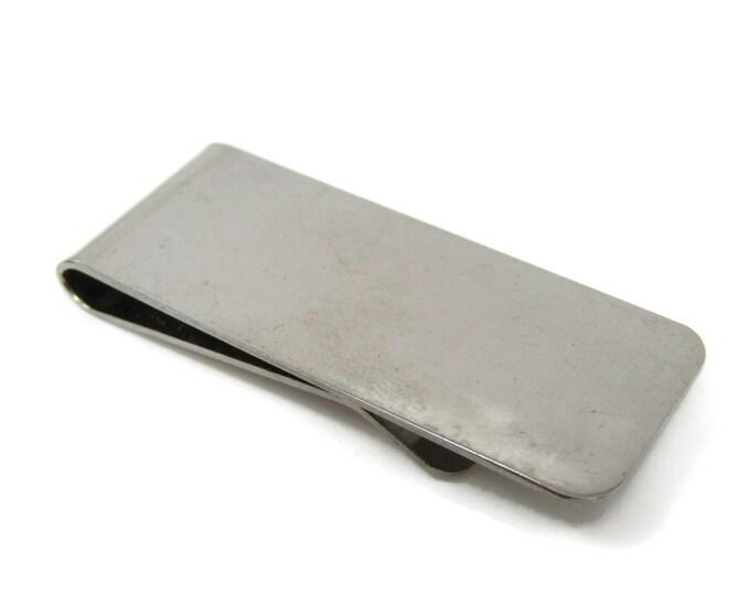 Smooth Silver Tone Money Clip Vintage