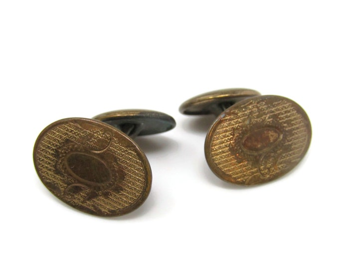 Antique Oval Cufflinks for Men's Vintage Men's Jewelry Nice Design