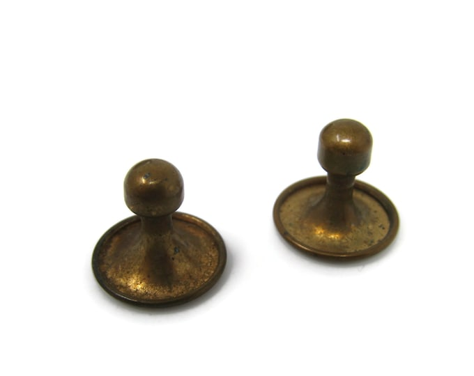 Brass Vintage Shirt Stud Buttons Round - Stand Out from the Crowd with Class
