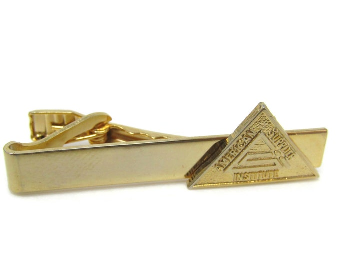 American Supplier Institute Tie Bar Clip Vintage Gold Tone Stand Out w/ Style Fit In with Class
