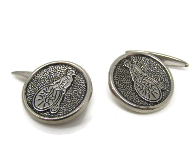 Penny Farthing Bicycle Cufflinks for Men's Vintage Men's Jewelry Nice Design