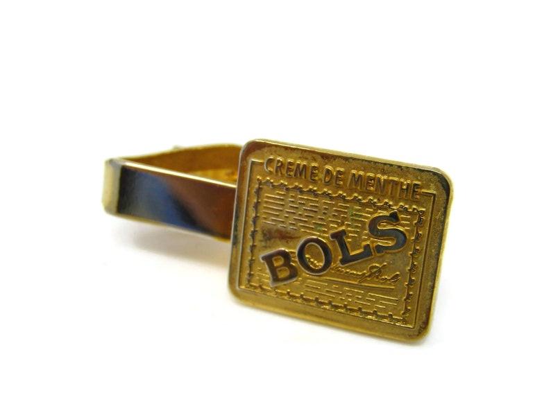 BOLS Creme de Menth Tie Clip Tie Bar Liquor Alcohol Vintage Excellent Design