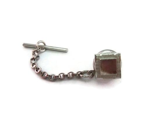 Beautiful Weave Square Tie Tack Pin Vintage Men/'s Jewelry Nice Design