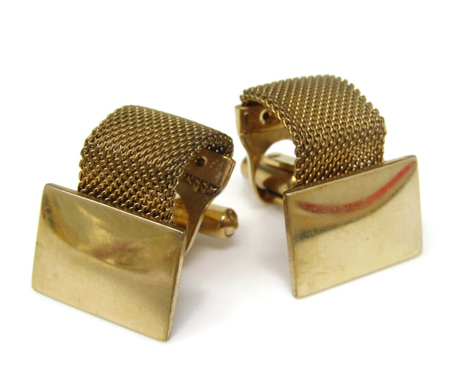 Wrap Mesh Rectangle Cufflinks for Men's Vintage Men's Jewelry Nice Design
