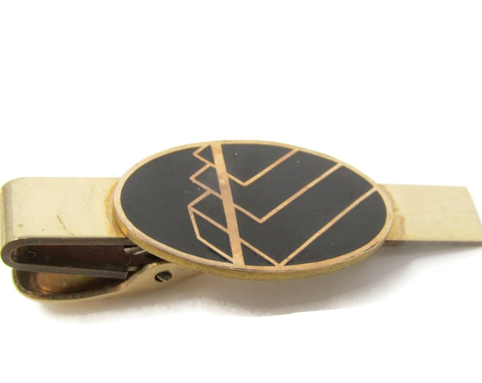 Art Modernist Excellent Design Tie Bar Clip Gold Tone Stand Out w/ Style Fit In with Class