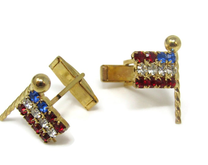 American Flag Jewels Beautiful Cufflinks for Men's Vintage Men's Jewelry Nice Design