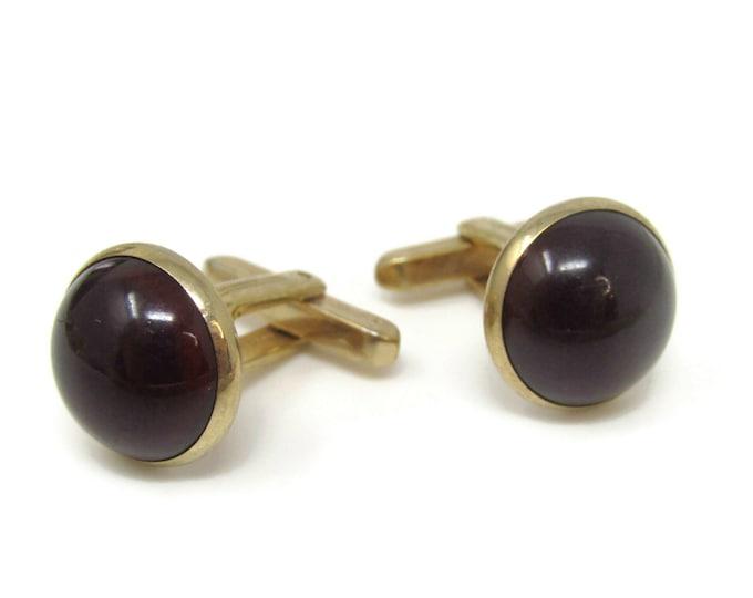 Dark Red Beautiful Cufflinks for Men's Vintage Men's Jewelry Nice Design
