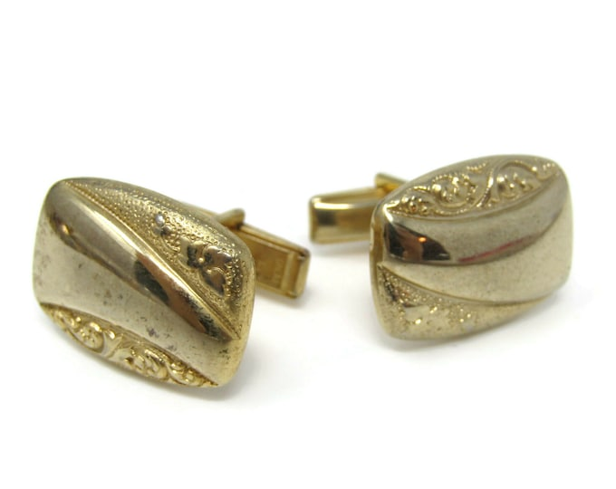 Scrolling Stems Rectangles Cufflinks for Men's Vintage Men's Jewelry Nice Design
