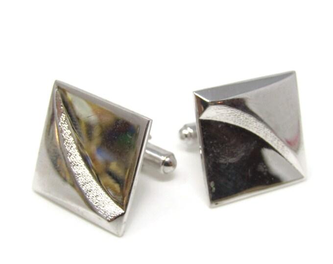 Modernist Square Cufflinks for Men's Vintage Men's Jewelry Nice Design