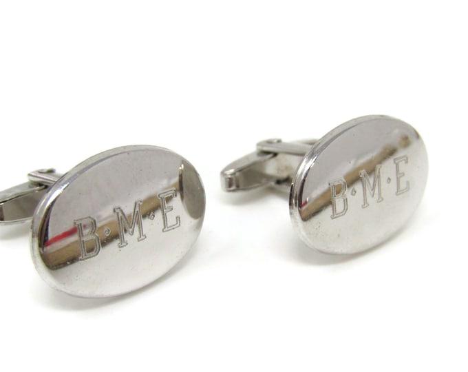 BME Oval Cufflinks for Men's Vintage Men's Jewelry Nice Design