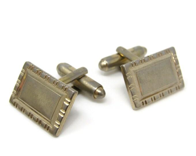 Rectangle Segmented Border Cufflinks for Men's Vintage Men's Jewelry Nice Design