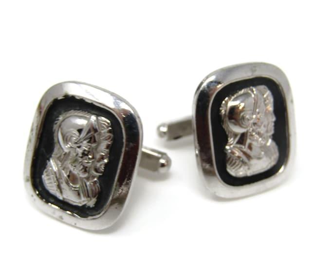 Double Warrior Cufflinks for Men's Vintage Men's Jewelry Nice Design