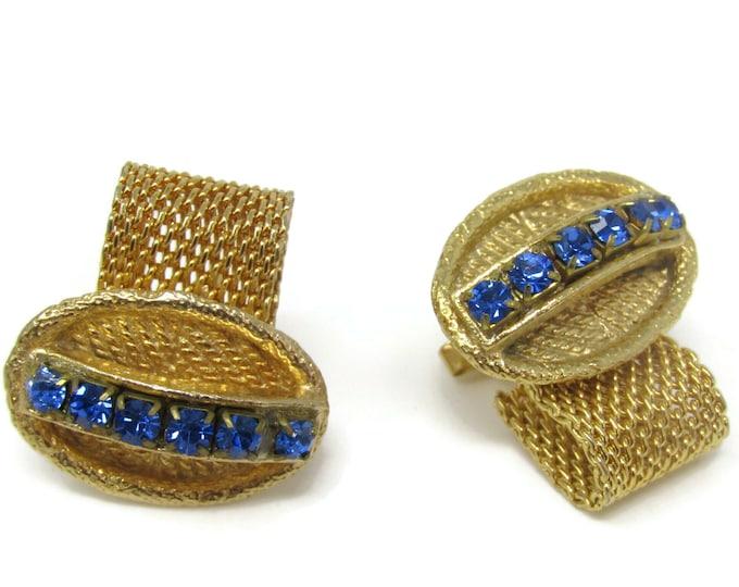 Blue Jewels Wrap Cufflinks for Men's Vintage Men's Jewelry Nice Design