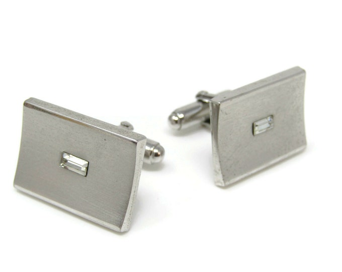 Beautiful Jewel Center Curved Front Body Cufflinks for Men's Vintage Men's Jewelry Nice Design
